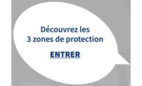 Découvrez les trois zones de protection